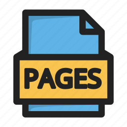 file, pages, type icon