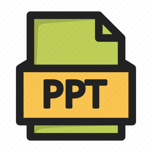 file, ppt, type icon