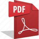 adobe, document, filetype, pdf, read, reader, reading icon