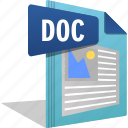 doc, document, filetype, ms office, office, word icon