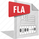 filetype, fla, move, movie, sound, video icon