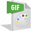 draw, filetype, gif, move, paint, photo icon