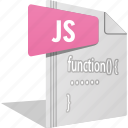 code, file, filetype, javascript, js, script, website icon