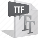file, filetype, font, letter, ttf, writing icon