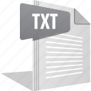 document, filetype, font, letter, note, text, txt icon