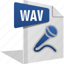 filetype, mic, music, sing, sound, wav icon