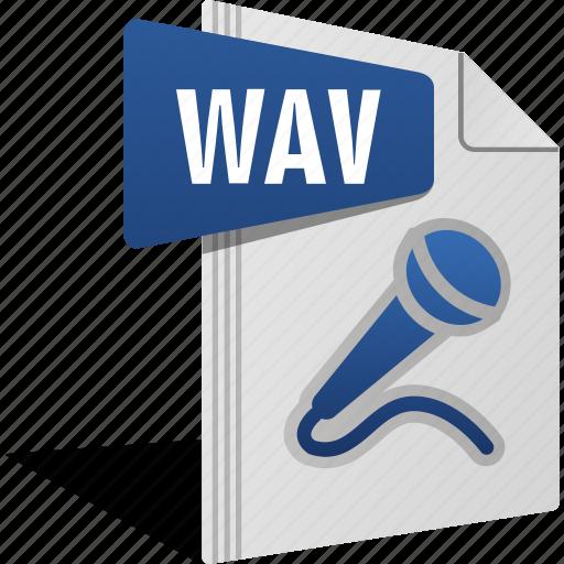 Filetype, mic, music, sing, sound, wav icon - Download on Iconfinder