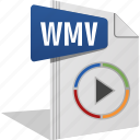 filetype, movie, play, sound, video, wmv icon