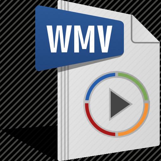 Filetype, movie, play, sound, video, wmv icon - Download on Iconfinder