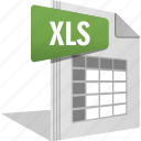 cell, file, filetype, formula, ms office, work sheet, xls icon