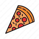 pizza, slice, food, topping, bake, restaurant, cooking