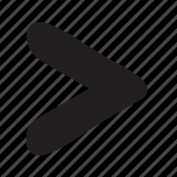 chevron, forward, greater than, less than, more than, next, proceed icon