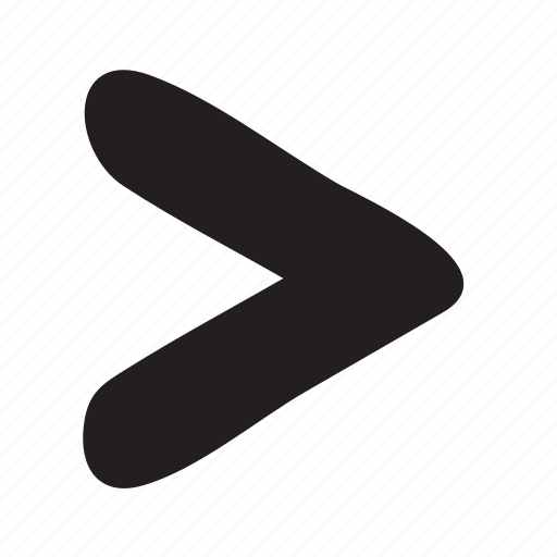chevron forward greater than less than more than next proceed icon