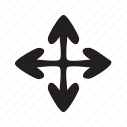 compass, east, enlarge, max, north, south, west icon