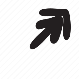 arrow, corner, diagonal, forward, move icon