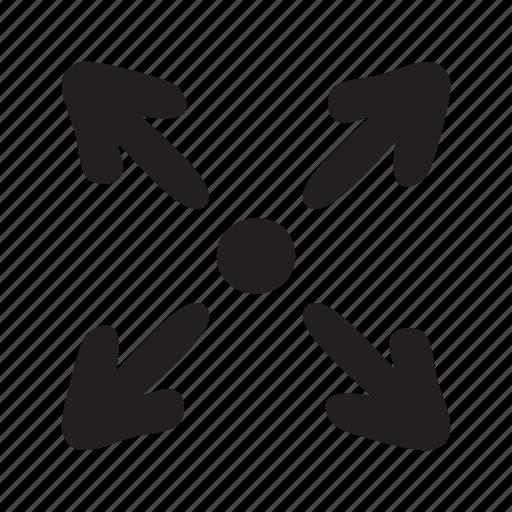 arrow, enlarge, expand, max, maximise, maximize, spot icon