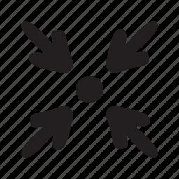 arrow, contract, decrease, min, minimise, minimize, spot icon