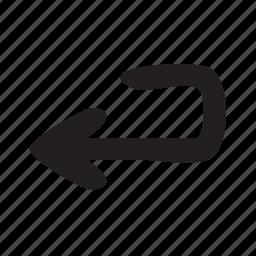 arrow, arrows, enter, new line, return icon