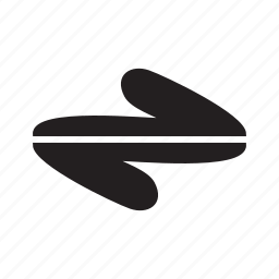 arrow, arrows, reverse, split icon