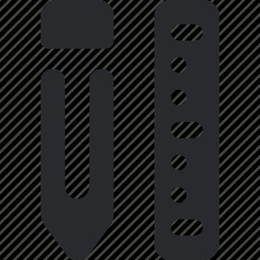 draw, edit, pen, pencil, ruler, text, write icon