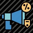 marketing, megaphone, promotion, sale icon