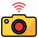 camera, connectivity, device, dslr, wifi icon