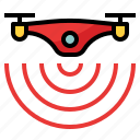 camera, device, drone, wifi icon