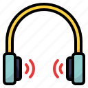 device, earphones, sound, technology icon