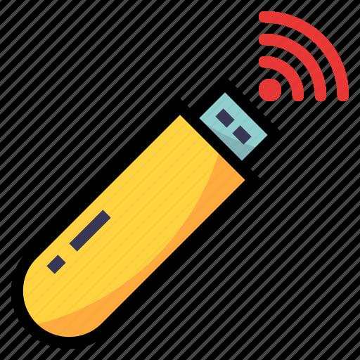 device, flashdrive, usb, wifi icon