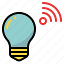bulb, connectivity, device, light, lighting, wifi icon