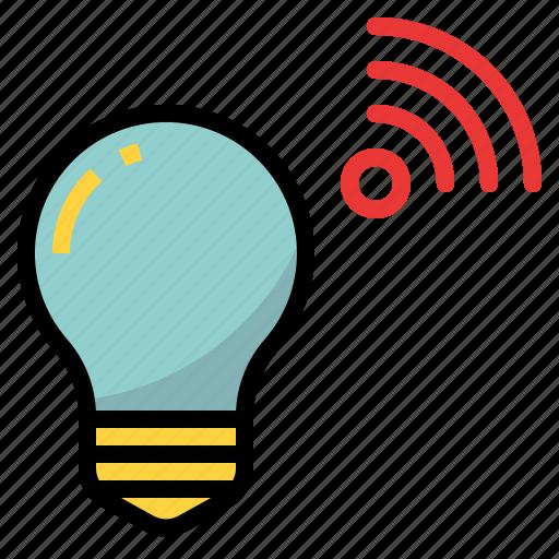 bulb, connectivity, device, light, lighting, wifi icon