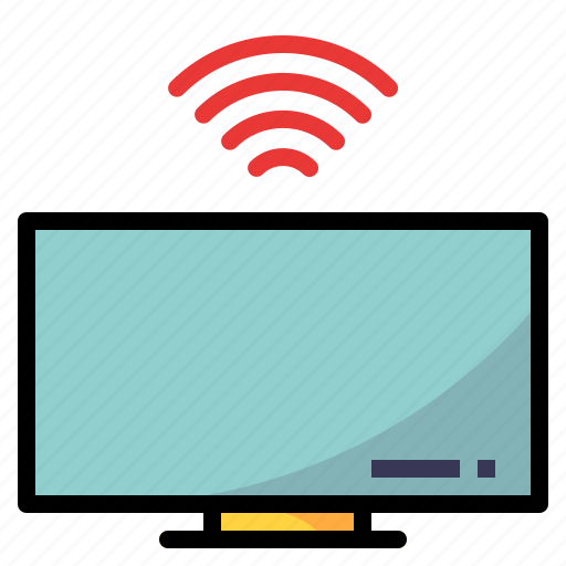 device, screen, television, wifi icon