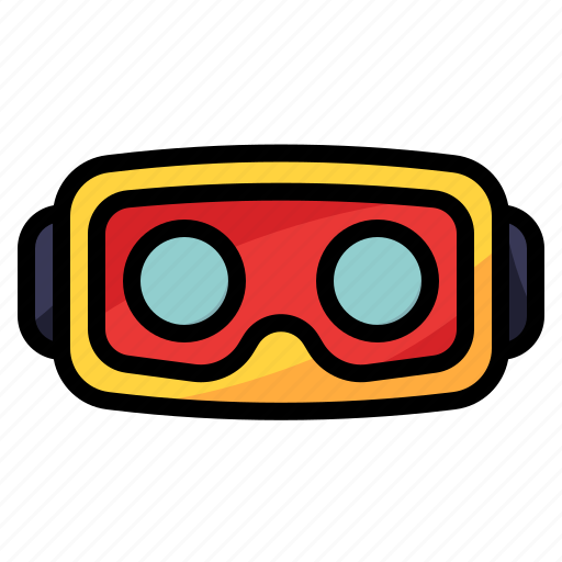 device, headset, technology, vr, wifi icon