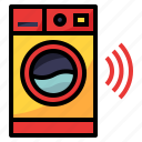 device, luandry, machine, wash, wifi icon