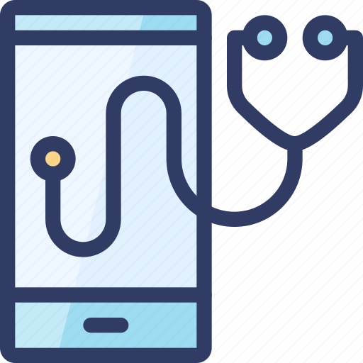 Health, healthcare, mobile, phone, stethoscope icon - Download on Iconfinder