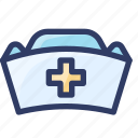 hat, health, hospital, medical, nurse icon