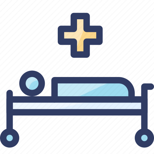 bed, emergency, health, hospital, medical icon