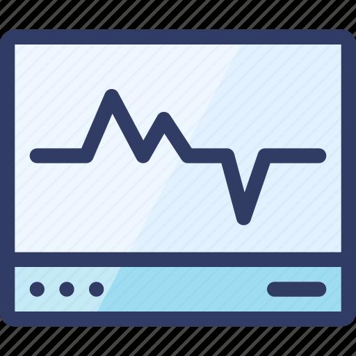 diagram, health, machine, medical, monitor icon