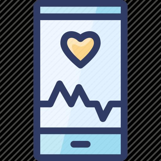 app, health, healthcare, heart, phone icon