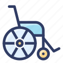 health, healthcare, medical, patient, wheelchair icon