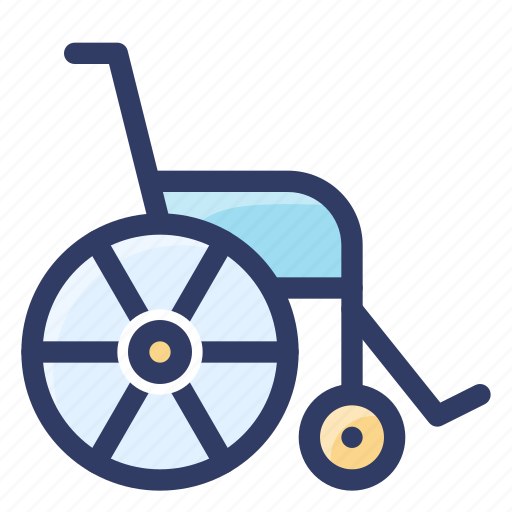 health, healthcare, medical, patient, wheelchair icon