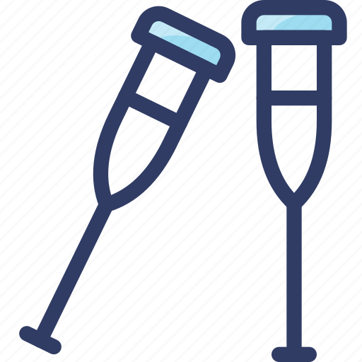 crutch, crutches, dissability, health, medical icon