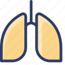 health, healthcare, lung, medical, organ icon