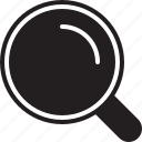 find, glass, in, keyword research, keyword search, magnifier, magnify, magnifying, magnifying glass, optimization, out, search, seek, seo, spectacle, view, zoom icon