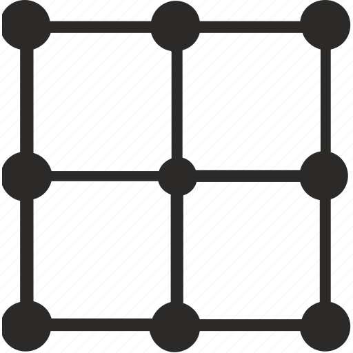 dot, grid, image, transform, transformation icon