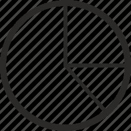 chart, data, economics, pie, radial icon