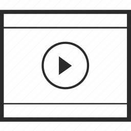 cinema, film, motion, movie, multimedia, player icon