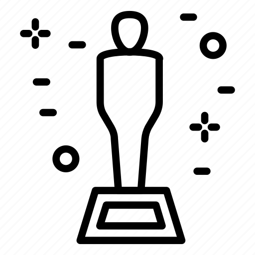 award, movie, oscar, prize, statue icon icon