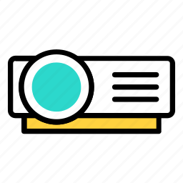 movie, projection, projector, video icon icon