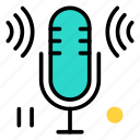 mic, microphone, music, rec, recording, singing icon icon